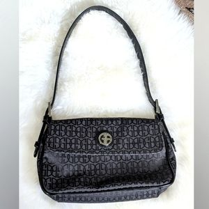 Vintage Black Logo Handbag by Giani Bernini